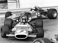Jackie Stewart (GBR) (Matra International), Matra MS80 - Ford Cosworth DFV (RET) Richard Attwood (GBR) (Gold Leaf Team Lotus), Lotus 49B - Cosworth V8 (finished 4th) 1969 Monaco Grand Prix
