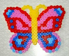 Butterfly hama perler by Kerstin Kokk Cute Crafts, Crafts To Make, Perler Beads, Beading, Butterfly, Symbols, Crafty, Crochet, Nature