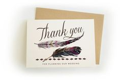 Thank you for planning our wedding - Single Wedding Card - For your wedding planner and/or assistant