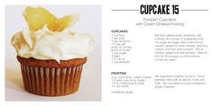 Cupcake 15: Pumpkin cupcakes with cream cheese frosting (Ming Makes Cupcakes: http://mingmakescupcakes.yolasite.com/)