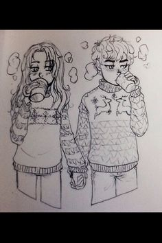 Puckabrina in sweaters (Sisters Grimm) I'm totally drawing this :D Dwayne And Whitley, Grimm Series, Achilles And Patroclus, Percy And Annabeth, We Bare Bears, Character Design Animation, Lunar Chronicles, Book Fandoms, Book Of Life