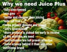 Benefits of Juice Plus. Nutrition for your health. Benefits of Juice Plus. Nutrition for your health. Health And Nutrition, Health And Wellness, Health Tips, Wellness Tips, Juice Plus Tower Garden, Maca Pulver, Juice Plus+, Juicing Benefits, Health Benefits