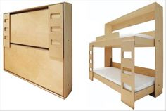Space Saving Home Ideas! Great idea for small bedrooms or for added guest space in a rec room!