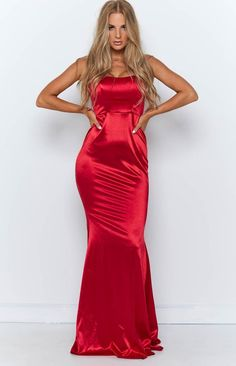 Arden Maxi Dress Red – Beginning Boutique 21st Dresses, Birthday Dresses, Satin Gown, Satin Dresses, Dresses Online Australia, Buy Dresses Online, Silky Dress, Latest African Fashion Dresses, Glitter Dress