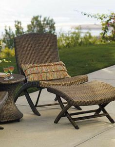 This summer, lounge around your pool in the comfortable Balencia Folding Chair