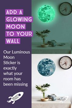 Luminous Moon Wall Art  - Imagine being bathed in moonlight while you're still inside! The 20cm Luminous Moon Wall Art Is made of a durable material and creates a beautiful glow at night. This large glow-in-the-dark wall sticker is non-damaging to paint (perfect for dorm rooms or renters) and is easily removed. Snag this statement piece of wall art and add a flair of space to your home.