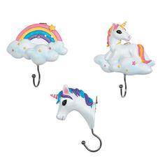 Unicorn & Rainbow Wall Hooks