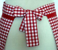Handmade apron / Retro pinny / Cooking apron. Red by hurdyburdy, £8.00