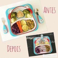 Almoço de hoje: legumes no vapor, arroz integral, ervilha refogada, saladinha de alface.