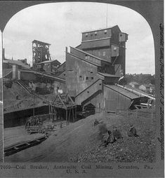 1905. Coal breaker, anthracite coal mining, Scranton, Pa. Where my Grandfather worked in the mines