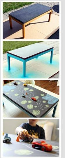 DIY Chalkboard Table for kids! DIY Chalkboard Table for kids! Chalkboard Table, Chalkboard Paint, Diy Tableau Noir, Play Table, Lego Table, Boy Room, Toddler Activities, Diy For Kids, Kids Playing