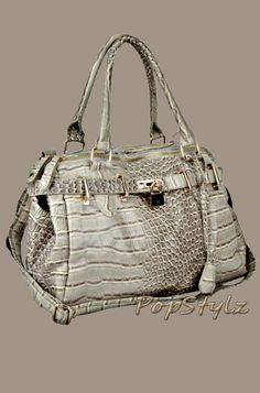 MG Collection Tait Croc Print Handbag