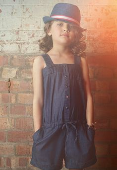 Paul Smith Junior spring 2013 soft denim playsuit and a cheeky trilby for kidswear