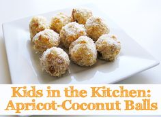 Easy to make apricot-coconut energy balls