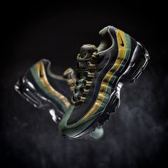The Nike have nailed it again with the Air Max 95 Trainer in carbon green & black. Go cop a pair now online & in store