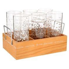 Natura box of 6 glasses