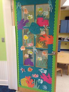 Under the sea ocean classroom door decoration idea