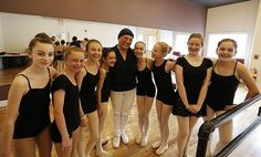 Teresa Capachione, founder of The Capachione School of Performing Arts in East Bridgewater, is surrouned by her students at her studio on Monday, June 13, 2016. — Dave DeMelia/The Enterprise