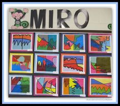 Miro in the art room. Good way to fuse art and technology!