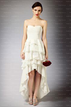 Vintage-Glam Chiffon Sweetheart Knee-length Wedding Dress @ Milly Bridal  $208.04