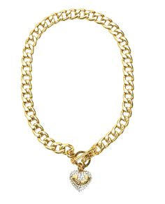 PAVE BANNER HEART STARTER NECKLACE - Juicy Couture