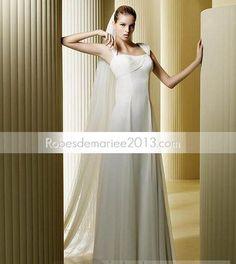 Robes de Mariée Dos Nu Décontracté Longueur Sol Mousseline de Soie