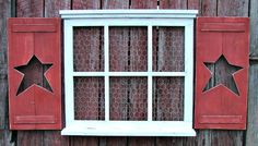Hand made 6 pane  window frame 24 tall X 27 by KimsPrimitiveCrafts
