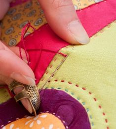 Hand quilting tutorial by Sarah Fielke                                                                                                                                                                                 More