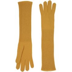 Malo Gloves ($75) ❤ liked on Polyvore featuring accessories, gloves, ochre, lightweight gloves, malo and cashmere gloves