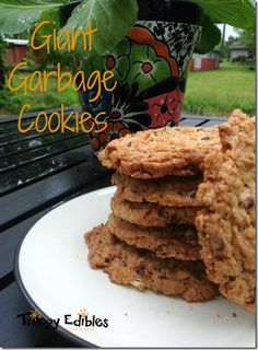 Giant Garbage Cookies for Treat Day Wednesday