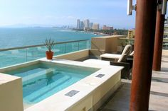 A jacuzzi on the balcony of a guest suite at Now Amber is a great place to unwind. #UnlimitedRomance
