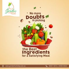 Your Satisfying Meal is just a few swipes away with Gordon Village Fruit Market. We are a home for some finest range of fruits and vegetables.  Visit our Website: www.gordonfruitshop.com.au  #HealthyLiving #EatHealthy #FreshFruits #FreshVegetables #FreshFromFarm #OrganicFruits #OrganicVegetables Organic Vegetables, Fruits And Vegetables, Fresh Fruit, Healthy Living, Range, Meals, Website, Fruits And Veggies, Healthy Life