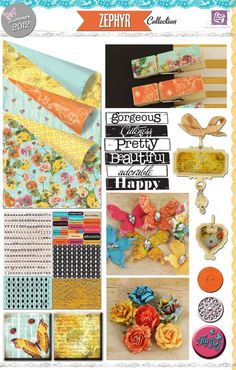 Prima - Zephyr Collection - Ey! Love the papers and most of the embellishments!
