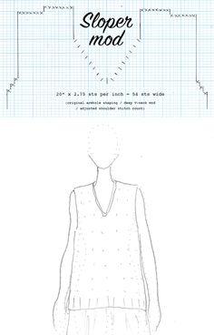 My Sloper mods: Longer linen V-neck