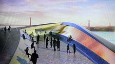 amanda levete architects's 'EDP cultural centre lisbon' reflects the horizontal emphasis of the riverfront, with minimal visual impact on the greater city. Amanda Levete, Centre, Lisbon, Public, Europe, Architectural Drawings, Design Magazine, City, Building