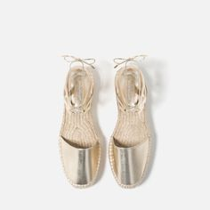 Image 4 of LACE-UP ESPADRILLES from Zara