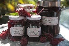 Nothing like freshly made Rosella jam.