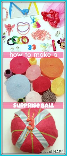 Birthday Surprise Ball birthday-surprise-ball-how-to Ball Birthday, Lego Birthday Party, Birthday Parties, Birthday Kids, Unicorn Birthday, Tao Te Ching, Diy For Kids, Gifts For Kids, Dance Team Gifts