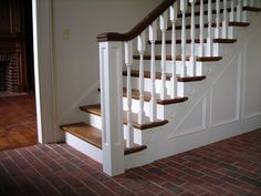 Brick tile entry hall, Wright's Ferry in Marietta color mix.