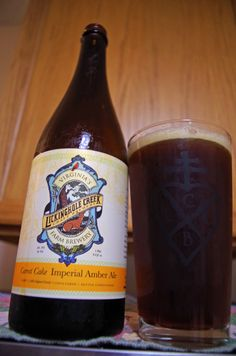 Carrot Cake Imperial Amber Ale by Lickinghole Creek Farm Brewery - Made with hundreds of pounds of fresh carrot - Cinnamon, all spice, cardamon, clove and vanilla - five specialty malts and American grown hops