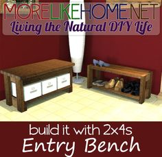 Build a bench out of 2x4s with MoreLikeHome.net. Plus Lowes / Home Depot gift cards giveaway!