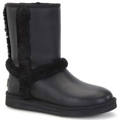 UGG Australia Womens Carter Boot Black Leather ** This is an Amazon Affiliate link. Click image to review more details.