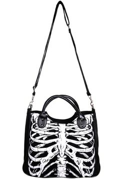 Banned Glow In The Dark Skeleton Shoulder Bag