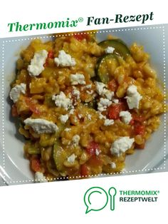 Greek risotto from A Thermomix ® recipe from the main course with vegetables category www.de, the Thermomix ® community. Greek Diet, Greek Recipes, Healthy Chicken Recipes, A Food, Veggies, Stuffed Peppers, Meals, Dishes, Cooking