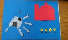 June's handprint calendar page