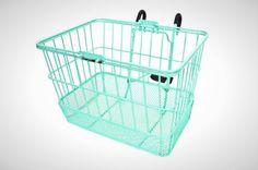 Sea Foam Wire Basket | 15 Bike Baskets and Panniers