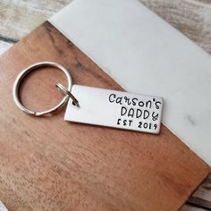 Add a name Great Gift Personalised Dad/'s Taxi Silver Plated Keyring