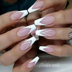Best 31 Nail Designs For This Season. Check out 31 of the Best Nail Art Designs for These Nail art designs are actually the best Nail art designs Fun Nails, Pretty Nails, White Tip Acrylic Nails, Best Nail Art Designs, French Nail Designs, French Tip Nails, Stylish Nails, Nail Manicure, Hair
