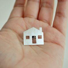 Little House Brooch - Sterling Silver Pin. $65.00, via Etsy.