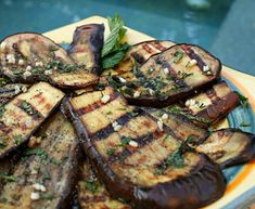 Italian Food Forever » Grilled Eggplant With Mint